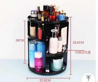 Cosmetic organizer racks rotate desktop skincare acrylic dresser box