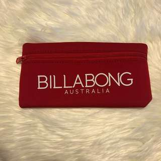 Billabong red pencil case or bag clutch