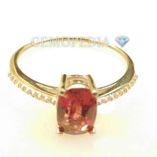 Silver ring 925 with Rose Garnet