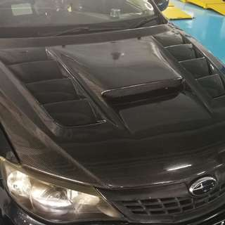 CF bonnet for Subaru hatchback