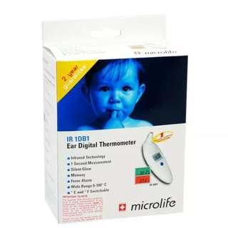 Microlife Ir1Db1 Ear Thermometer (Free Postage)
