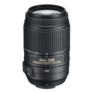 🚚 NEW Nikon 55-300mm f4.5-5.6G AFS DX ED VR Lens
