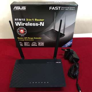 Asus RT-N12 3-in-1 Wireless-N Router