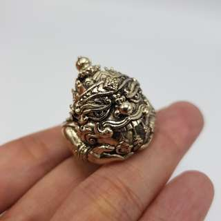 Thai amulets Phra Rahu ring by Porthan Kloy Anomo free size