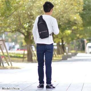 porte防水尼龍牛皮斜咩袋10.5-inch iPad Pro one shoulder bag單肩後背包leather campus pack電單車bicycle bike chest黑色 Black