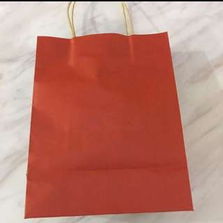 Goodie bag - red paper bag