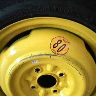 Spare/Temporary Tyre pcd114.3, T135/70/D16