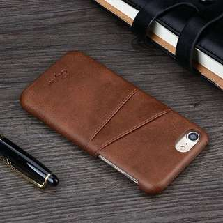Leather Case Card Slot Casing Kulit Iphone 6 7 8-Plus X Ten