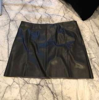 P/U Leather Skirt