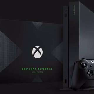 WTB/ WTT New/ Preowned Xbox One X Project Scorpio Edition Console.