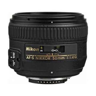 NEW Nikon 50mm f1.4 G AF-S Full Frame Lens