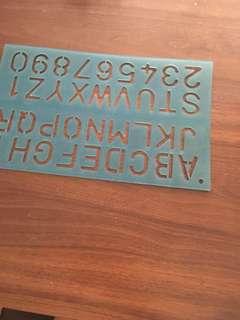Kids alphabet stencil