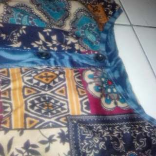 1sett long dress batik + blazzer