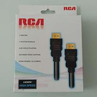 全新 RCA 2米 HDMI HIGH SPEED 線