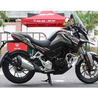Honda New CB190X Tourism OTR $13.K Not Inculsive+ insurance D/P $500 or $0 With out insurance (Terms and conditions apply. Pls call 67468582 De Xing Motor Pte Ltd Blk 3006 Ubi Road 1 #01-356 S 408700.