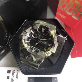 BNIB 2018 Casio Gshock Camouflage Army Green Camo Watch Unisex 100% Authentic FREE DELIVERY GA700CM Series GA700
