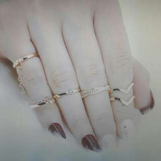 6 pcs Gold/Silver rings set bohemian jewellery retro knuckle rings