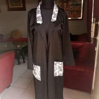 Black outerwear kimono