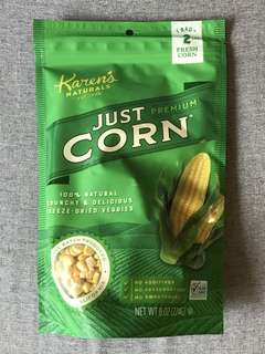 KAREN'S NATURALS Premium Freeze Dried Veggies Just Corn 乾粟米粒零食