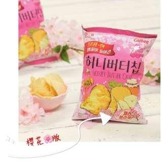 🚚 限時收單🌺🌺韓國蜂蜜櫻花洋芋片