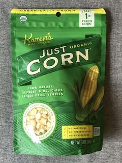 KAREN'S NATURALS Organic Freeze Dried Veggies Just Corn 有機乾粟米粒乾零食