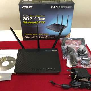 Asus RT-AC66U Dual-Band Gigabit Wireless-AC1750 Router