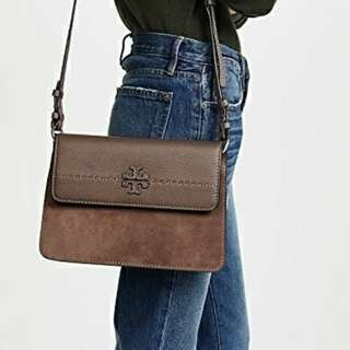 美國專櫃Tory Burch MCGRAW MIXED SUEDE SHOULDER BAG