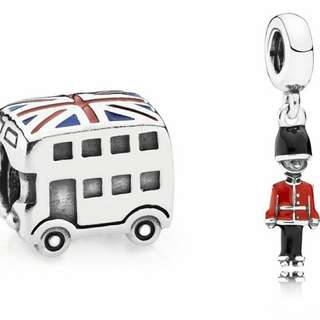 Panador Charm Guard my heart and Union jack bus set 包郵