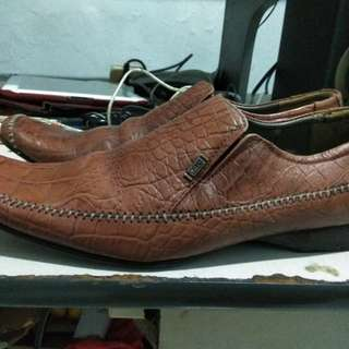 Sepatu bally original leather made in swiss
