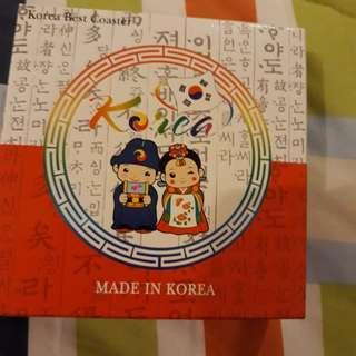 Tatakan gelas dari korea