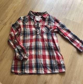 Mango kids checkered shirt