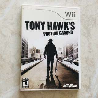Wii game Tony Hawk's Proving Ground - skate boarding