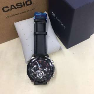 Casio EDIFICE Men's Watch Leather