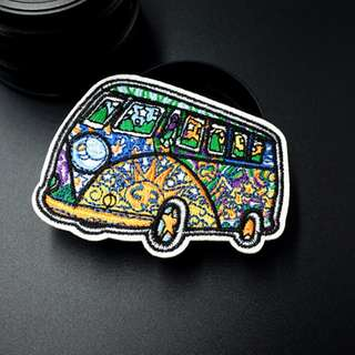#17 london graphic bus Iron On Patch | PO
