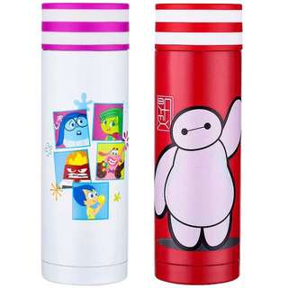 Little Cartoon Flask - HGR233  Volume: 380ml  Size: 6.5*6.5*20cm   Design: big hero, inside out   Can keep warm for 10-12hours