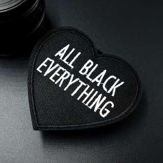 #18 black tumblr iron on patch | PO