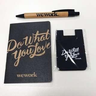 WeWork Pen, Notebook & mobile phone card holder