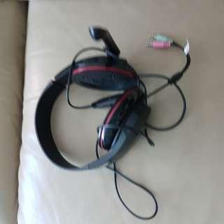 Head phone with mic