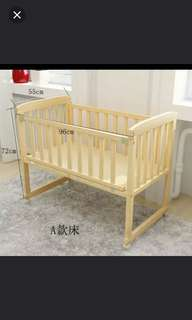 Baby cot with mattress set