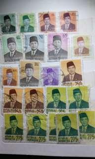 perangko jaman old per lembar