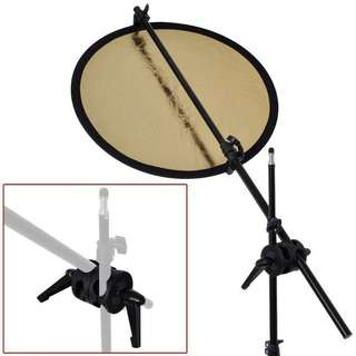 Pxel AABA1 Dual Grip Swivel Bracket Boom Arm Reflector Holder Stand