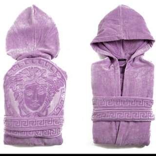 Versace 紫色浴袍 Medusa unisex bathrobe