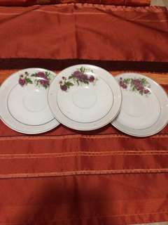 3 Saucers Made In Japan