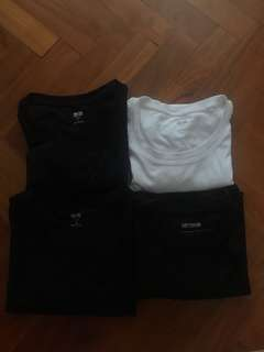 white/black basic t-shirts