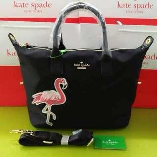 Kate Spade Flamingo Print Tote Bag - Black
