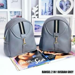Ransel 2in1 Bisban Grey