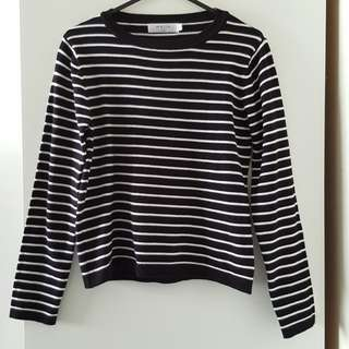 Striped Crop Pullover Top