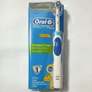 Braun Oral B Vitality Plus Crossaction Electric Rechargeble Toothbrush