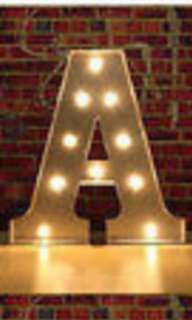 MARQUEE LIGHTS LETTER A - WOODEN