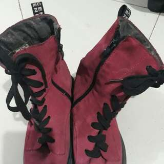 Dr. Martens style pink boots